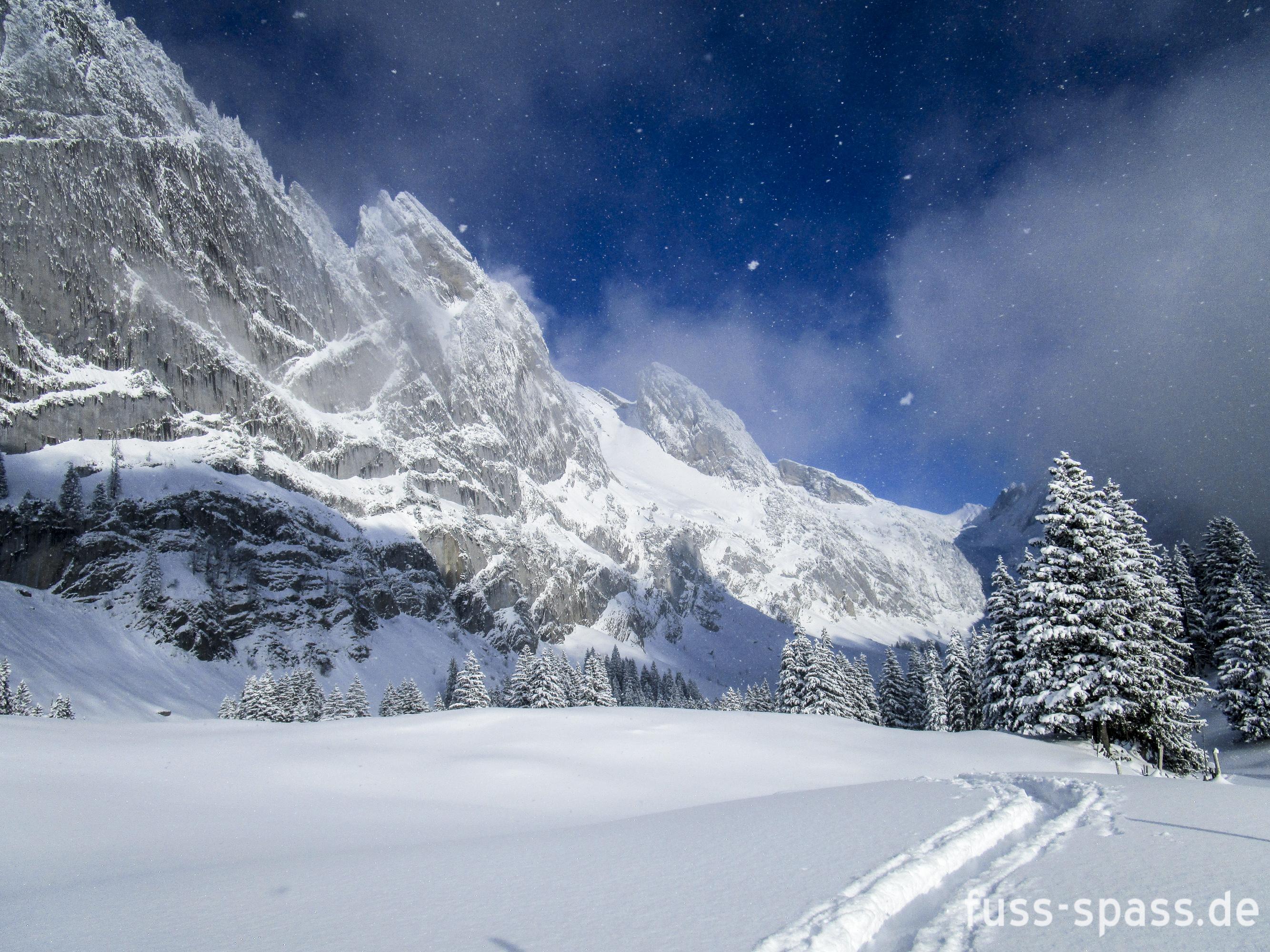 Bild der Woche: Wandern in einer Schneekugel