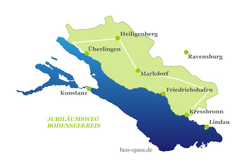 Karte Jubiläumsweg Bodenseekreis