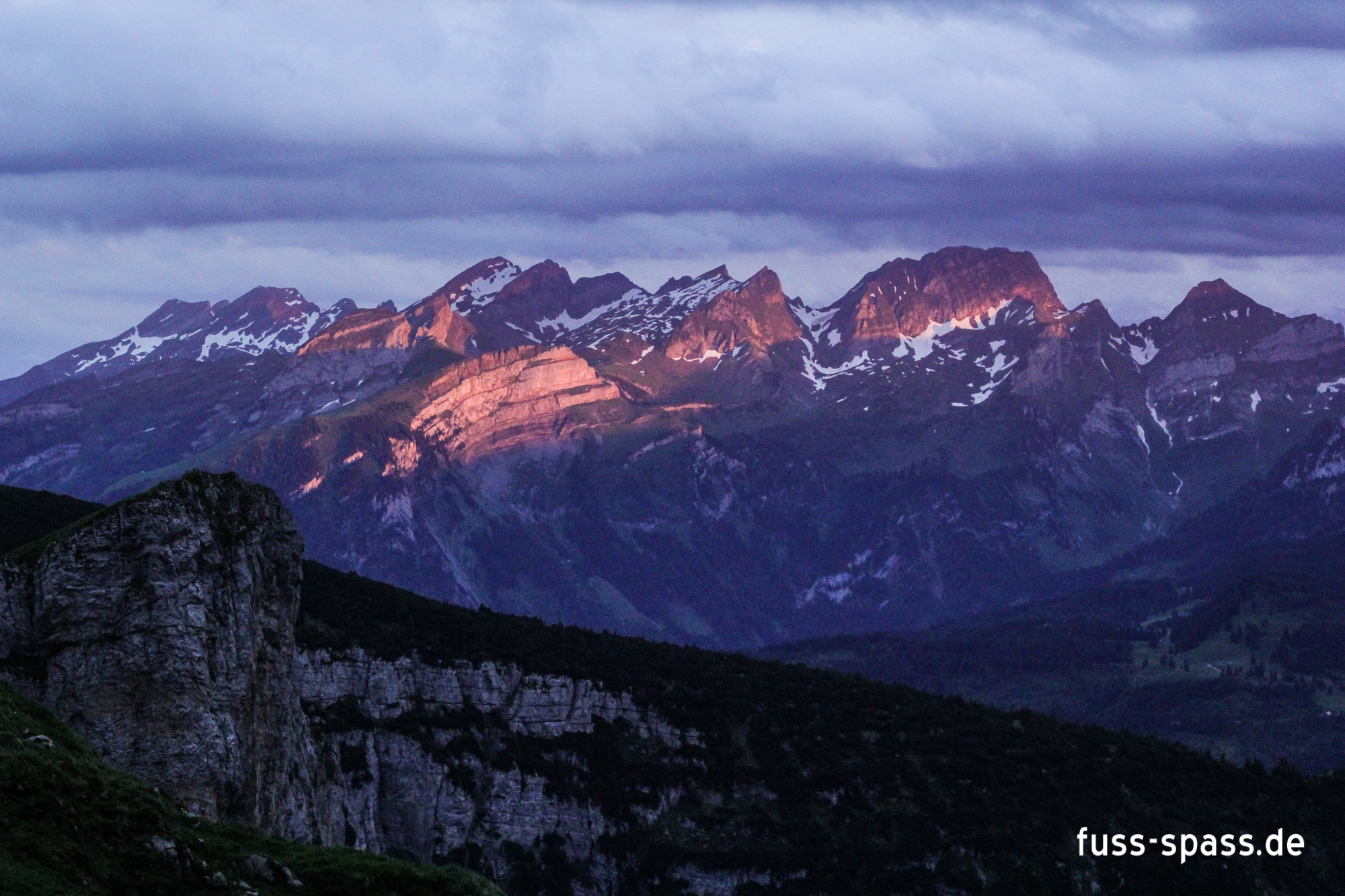 Bild der Woche: Alpenglühen