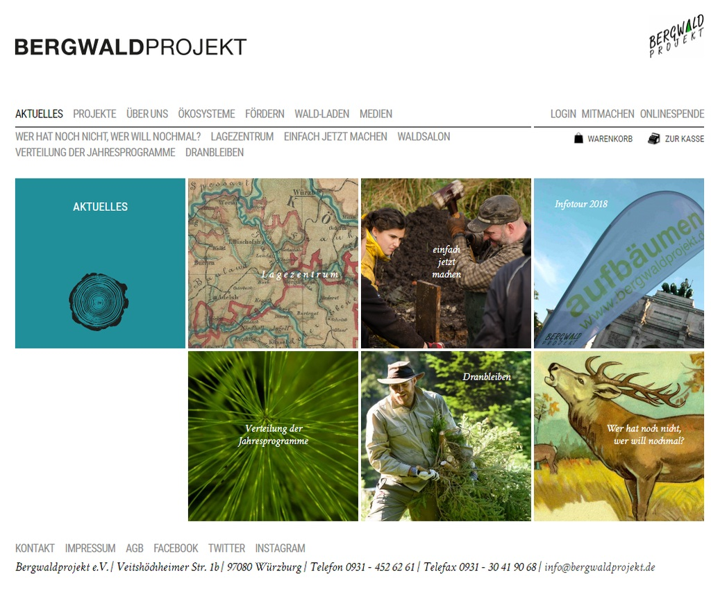 Weiter geklickt: Das Bergwaldprojekt