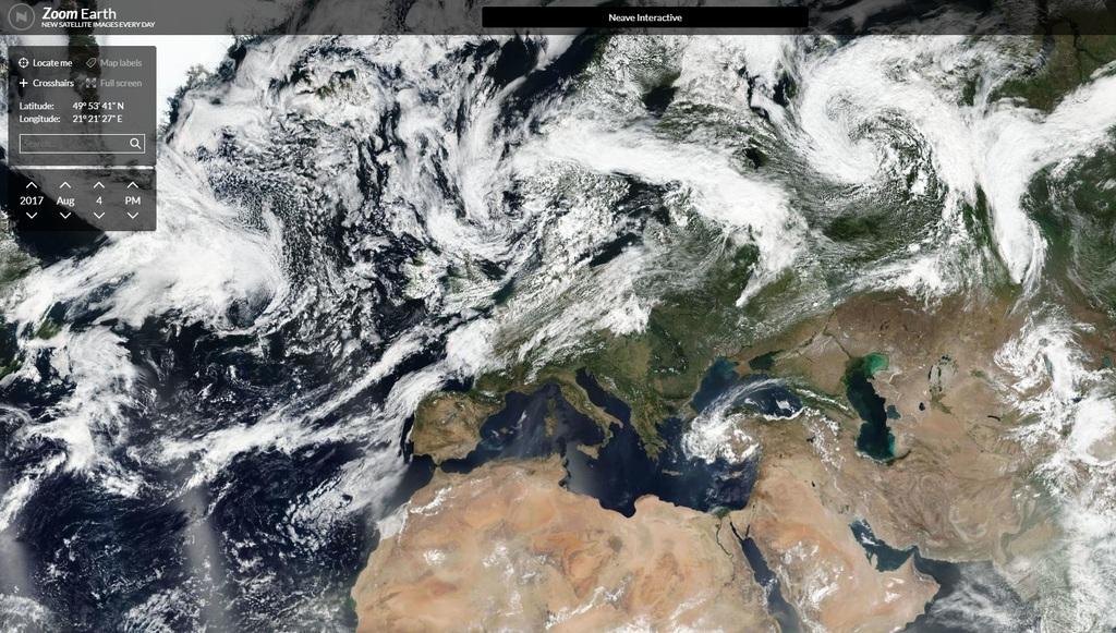 Weiter geklickt: Zoom Earth